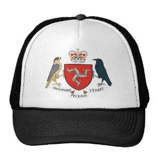 isla del emblema del hombre gorras de camionero