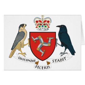 isla del emblema del hombre tarjeta de felicitación