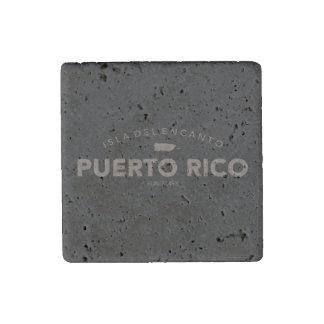 Isla del Encanto, Puerto Rico Map Stone Magnet