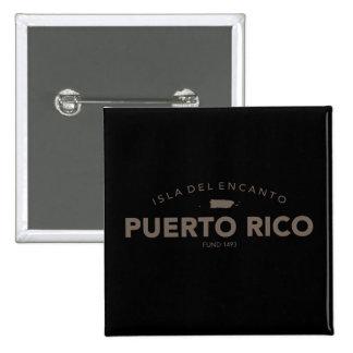 Isla del Encanto, Puerto Rico Pin Cuadrado