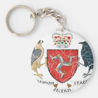 Isla del escudo de armas de Mann Llavero Personalizado