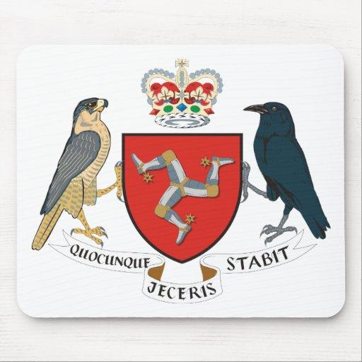Isla del escudo de armas de Mann Tapete De Ratones