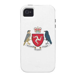 Isla del escudo de armas del hombre iPhone 4/4S carcasa