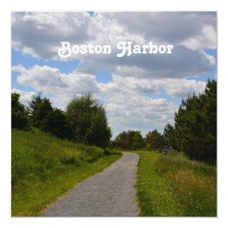 """Isla del espectáculo en el puerto de Boston Invitación 5.25"""" X 5.25"""""""