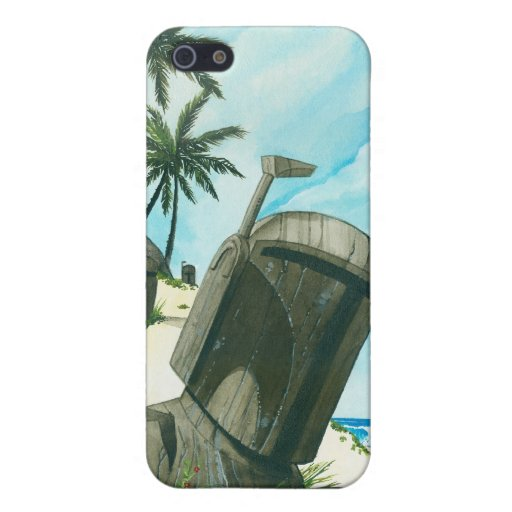 """""""Isla del Fett Moai """" iPhone 5 Fundas"""