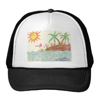 Isla del flamenco gorra