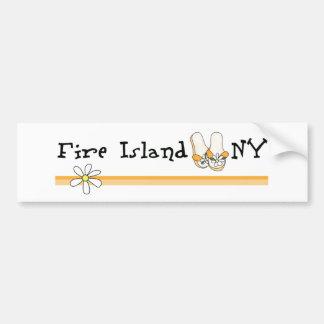 Isla del fuego pegatina de parachoque