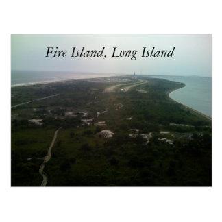 Isla del fuego, Long Island Tarjeta Postal