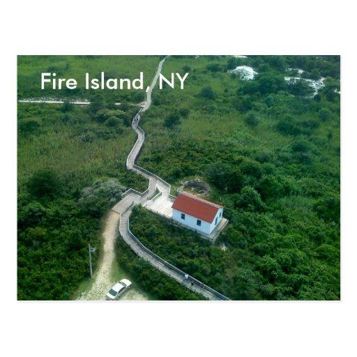 Isla del fuego, NY Tarjetas Postales