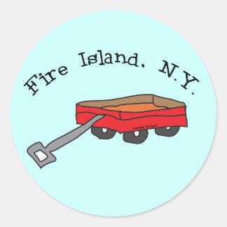 Isla del fuego pegatina redonda
