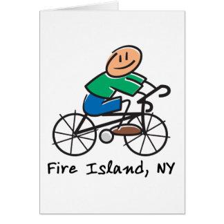 Isla del fuego tarjeta de felicitación