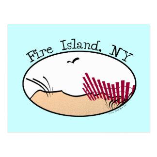 Isla del fuego tarjeta postal