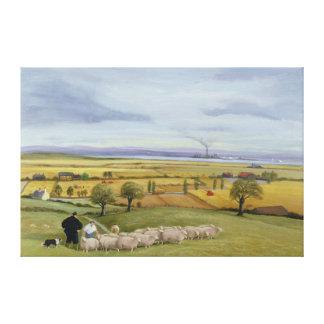 Isla del granjero de las ovejas de Sheppey Impresión En Lona