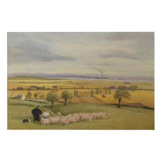 Isla del granjero de las ovejas de Sheppey Impresión En Madera
