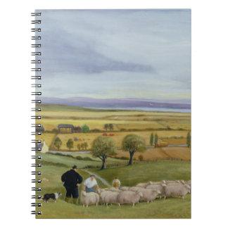 Isla del granjero de las ovejas de Sheppey Libros De Apuntes Con Espiral