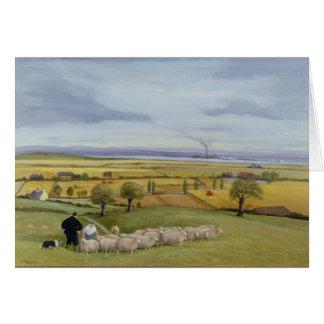Isla del granjero de las ovejas de Sheppey Tarjeta De Felicitación
