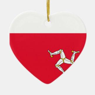 Isla del hombre, bandera de Irlanda Adorno De Cerámica En Forma De Corazón
