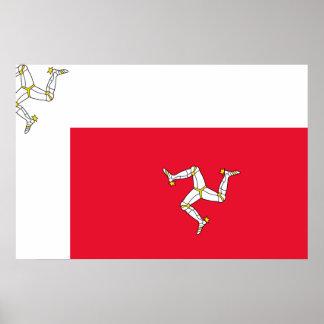 Isla del hombre, bandera de Irlanda Posters