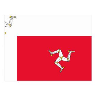 Isla del hombre, bandera de Irlanda Tarjeta Postal