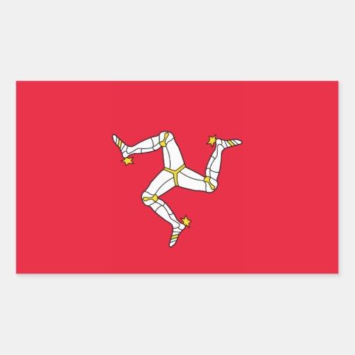 Isla del hombre - bandera de la Isla de Man Pegatina Rectangular