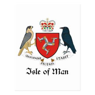 ISLA DEL HOMBRE - emblema/bandera/símbolo/escudo Tarjetas Postales