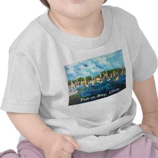 Isla del lago Erie de la Poner-n-Bahía que pinta Camiseta