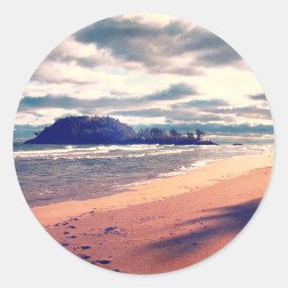 Isla del lago Superior Pegatinas Redondas