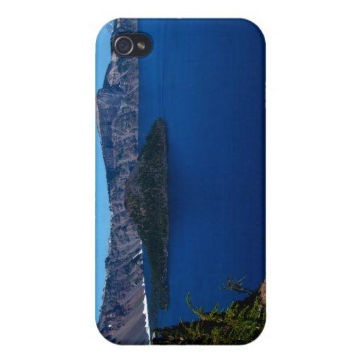 Isla del mago del lago crater iPhone 4 funda