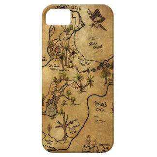 Isla del mapa perdido del tesoro iPhone 5 Case-Mate carcasa