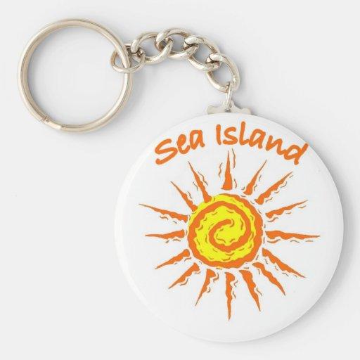 Isla del mar, Georgia Llavero Personalizado