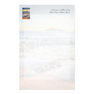Isla del municipio escocés de Bantham en el ocaso… Papelería Personalizada