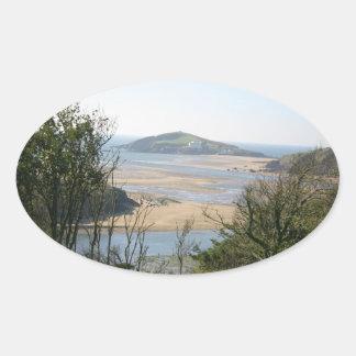 Isla del municipio escocés colcomanias de oval