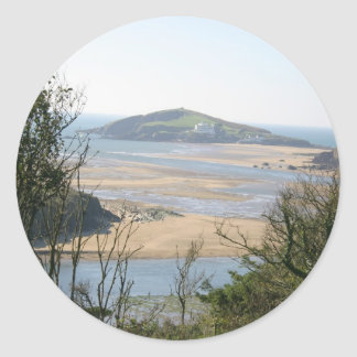 Isla del municipio escocés pegatina redonda