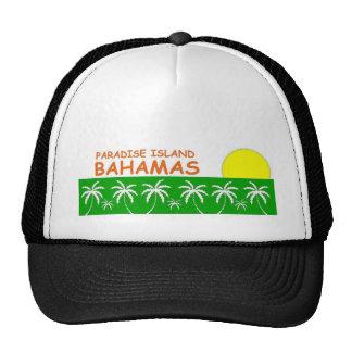 Isla del paraíso, Bahamas Gorras De Camionero