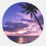 Isla del paraíso pegatina redonda