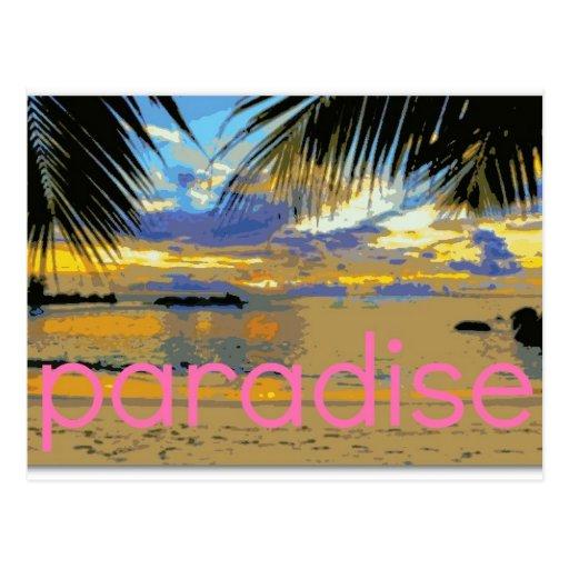 Isla del paraíso postal