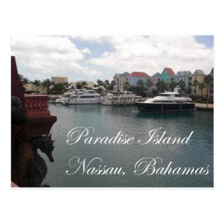 Isla del paraíso tarjeta postal