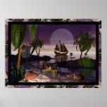 Isla del pirata de David más salvaje Posters