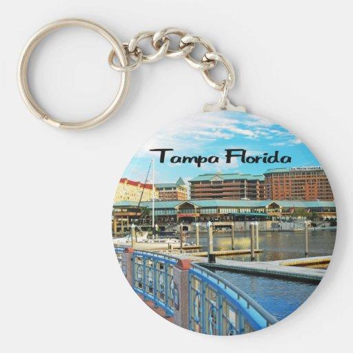 Isla del puerto de Tampa la Florida Llavero Redondo Tipo Pin
