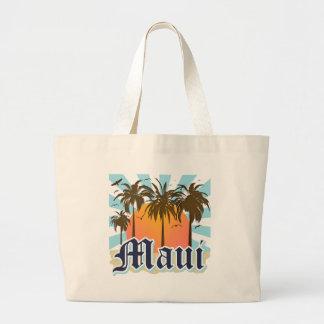Isla del recuerdo de Maui Hawaii Bolsa Tela Grande