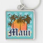 Isla del recuerdo de Maui Hawaii Llaveros Personalizados