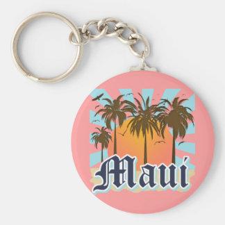 Isla del recuerdo de Maui Hawaii Llavero Redondo Tipo Pin
