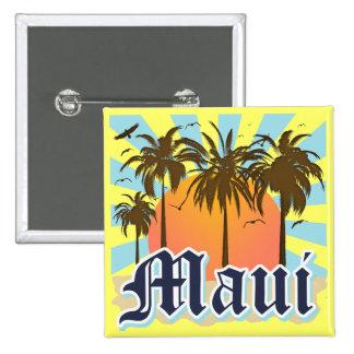 Isla del recuerdo de Maui Hawaii Pin Cuadrada 5 Cm
