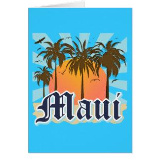 Isla del recuerdo de Maui Hawaii Tarjeta Pequeña