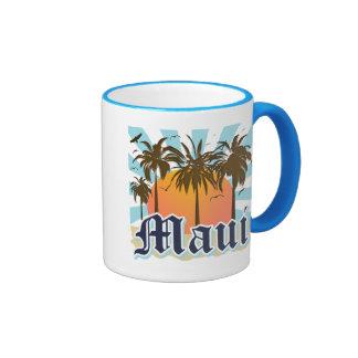 Isla del recuerdo de Maui Hawaii Taza A Dos Colores