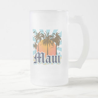 Isla del recuerdo de Maui Hawaii Taza Cristal Mate