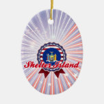 Isla del refugio, NY Adornos De Navidad