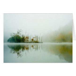 Isla del río del remache tarjeta de felicitación