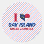 Isla del roble, Carolina del Norte Etiqueta