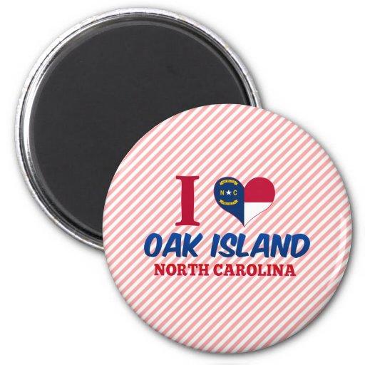 Isla del roble, Carolina del Norte Imanes